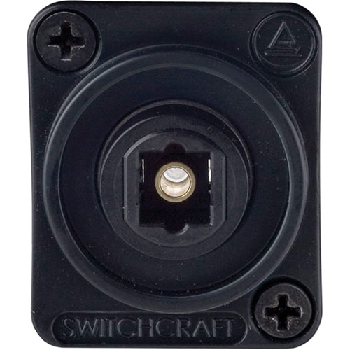 Switchcraft EH Series TOSLINK Jack Female to Female (Plastic Housing, Black)