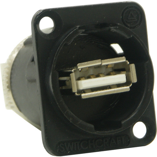 Switchcraft EH Series USB A Female to USB B Female Connector (Black Chrome Finish)
