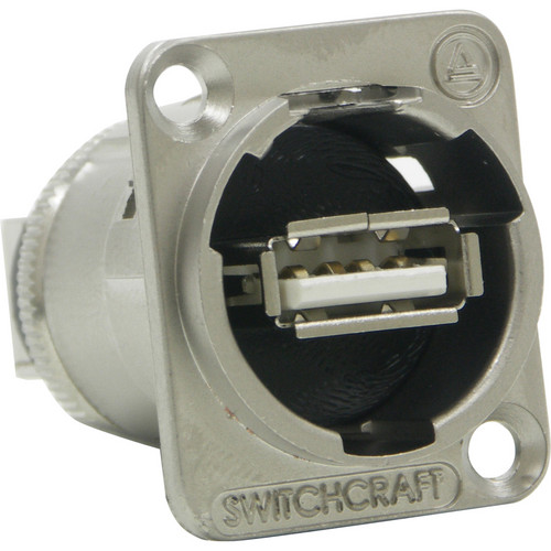 Switchcraft EH Series USB A Female to USB B Female Connector (Nickel Finish)
