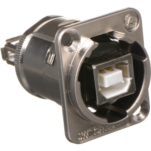 Switchcraft EH Series USB-B to USB-A Feed-Through Connector (Nickel Finish)