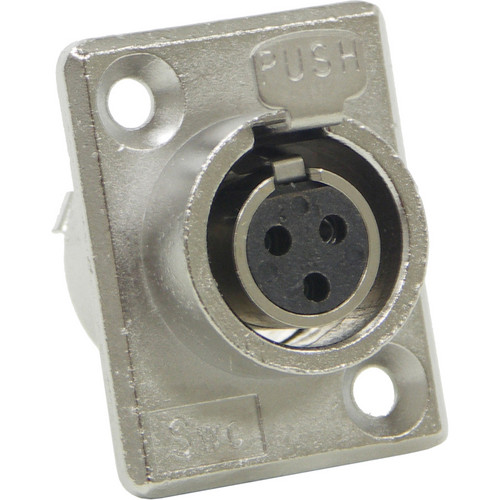 Switchcraft Mini XLR Female 3 Contacts (PC Mount)