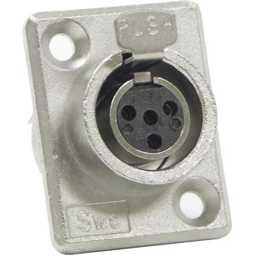 Switchcraft Mini XLR Female 4 Contacts (Solder Terminals)