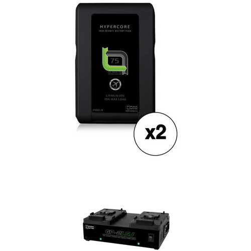 Core SWX 2-HC-7S Hypercore Slim Battery Kit with GP-2LSJ V-Mount Two Position Charger