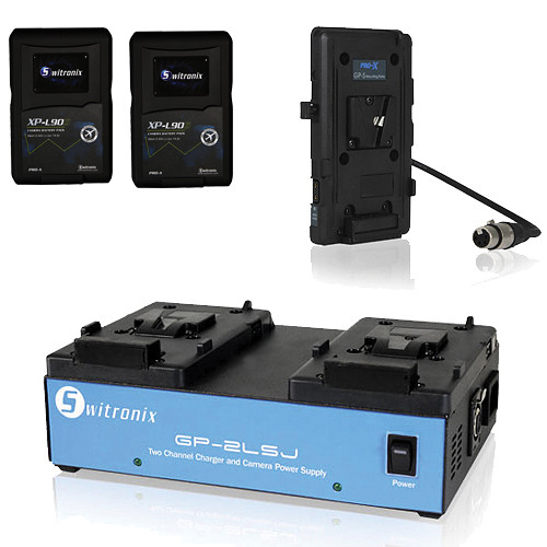 Core SWX 2x XP-L90S V-Mount Batteries, Two-Position Charger, and Plate for Sony F3 Kit