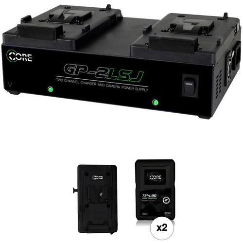 Core SWX XP-L90S V-Mount 2-Battery Kit for Blackmagic URSA Cameras