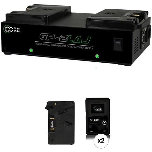 Core SWX XP-L90A Gold-Mount 2-Battery Kit for Blackmagic URSA Cameras