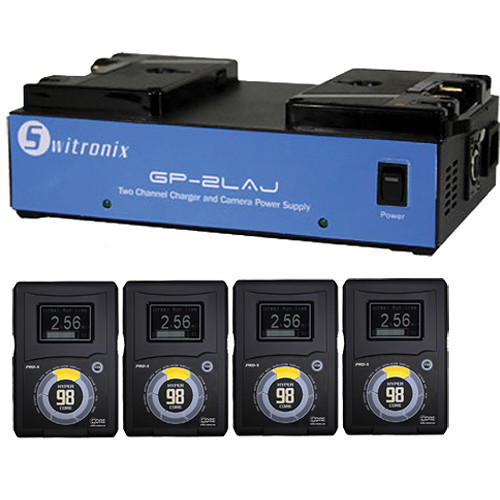 Core SWX Four HyperCore GOLD Batteries and Dual Charger