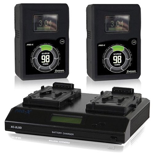 Core SWX 2x HyperCore 98Wh 14.8V V-Mount Battery with XC 2-Position Charger Kit