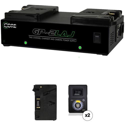 Core SWX HyperCore-98AG Gold-Mount 2-Battery Kit for Blackmagic URSA Cameras