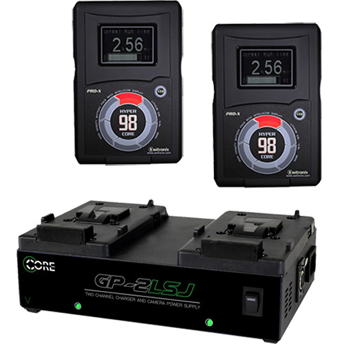 Core SWX HyperCore RED & GP-2LSJ Two-Battery and Charger Kit
