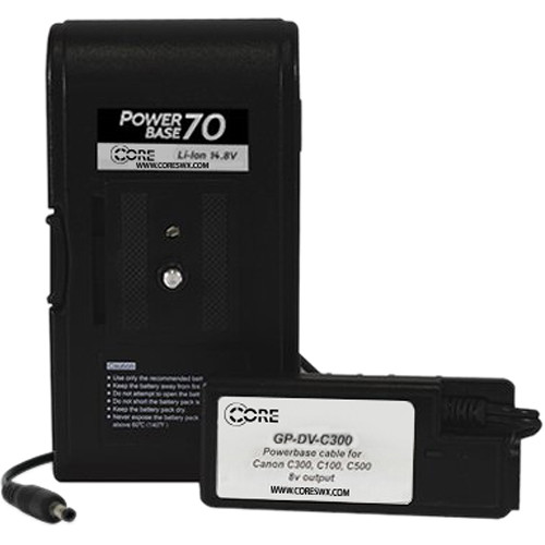 "Core SWX PowerBase 70 Battery for Canon C100, C300, C500 (24"" Cable)"