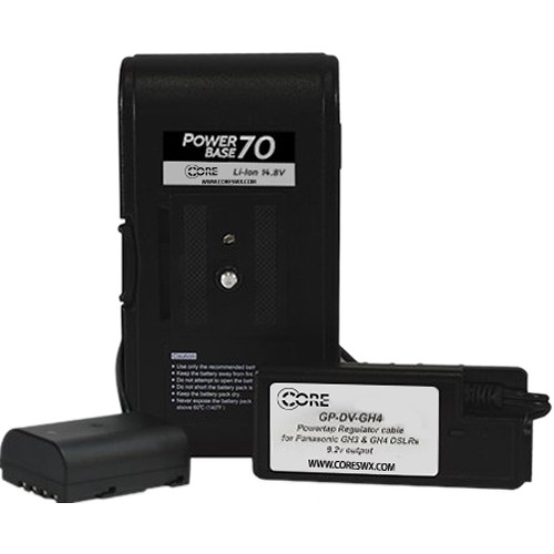 "Core SWX PowerBase 70 Battery for Panasonic GH3 & GH4 (24"" Cable)"