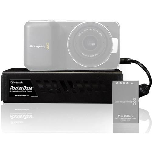 Switronix PocketBase EN-EL20 Battery Holder for Blackmagic Pocket Cinema Camera