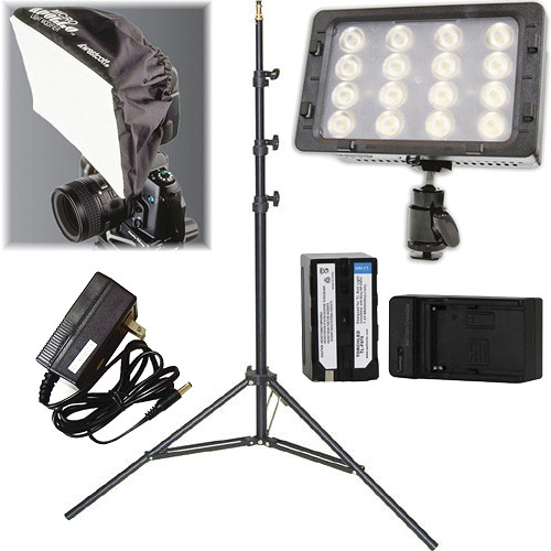 Core SWX TorchLED Bolt 220W On-Camera Light with Power Supply, Apollo and Stand Kit