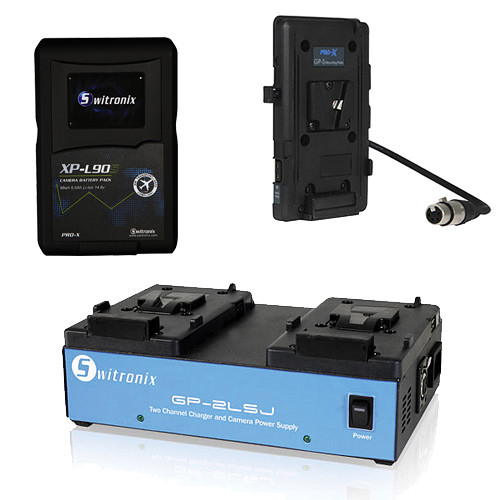 Core SWX XP-L90S V-Mount Battery, Two-Position Charger, and Plate for Sony F3 Kit