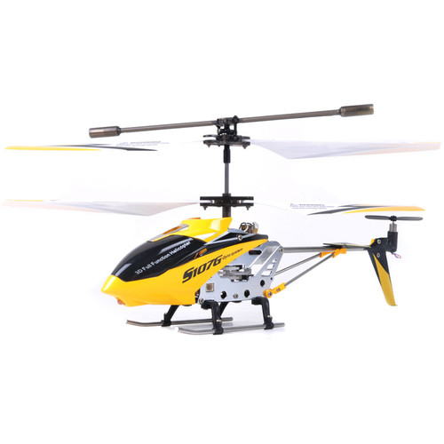 SYMA 3-Channel S107 / S107G Mini Indoor Metal Frame Helicopter (Yellow)
