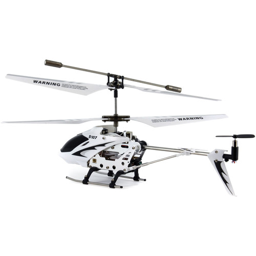 SYMA 3-Channel S107 / S107G Mini Indoor Metal Frame Helicopter (White)
