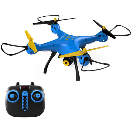 SYMA X8SW FPV Real-Time Quadcopter with 720p Wi-Fi Camera & 4-Channel Remote Control (Blue/Yellow/Black)