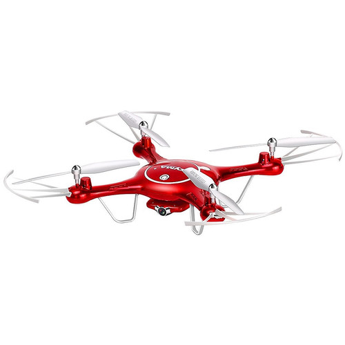 SYMA X5UW FPV Real-Time Quadcopter with 720p Wi-Fi Camera & 4-Channel Remote Control (Red/White)
