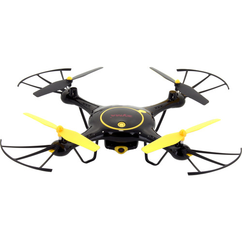SYMA X5UW 2.4G Quadcopter With 2MP Wi-Fi Camera 2 Batteries - Tenergy Exclusive (Black/Yellow)