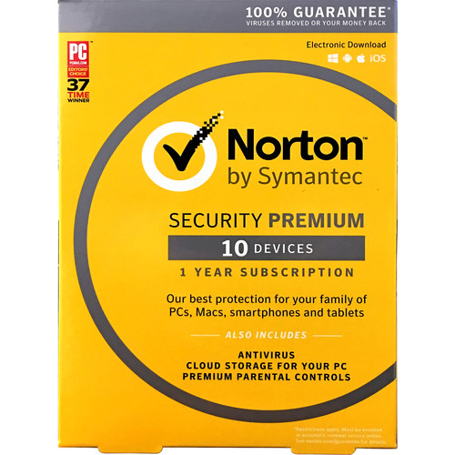 Symantec Norton Security with AntiVirus Premium-10 Devices (Key Card)