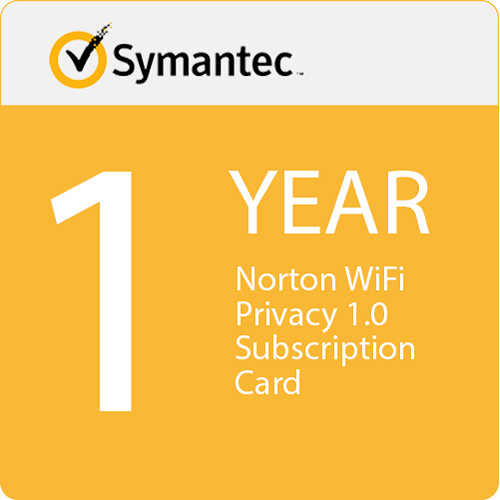 Symantec Norton WiFi Privacy 1.0 Subscription Card (1-Year, 10 Devices)