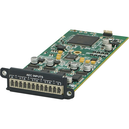 Symetrix 4-Channel AEC Input Card for Edge and Radius Sound DSP