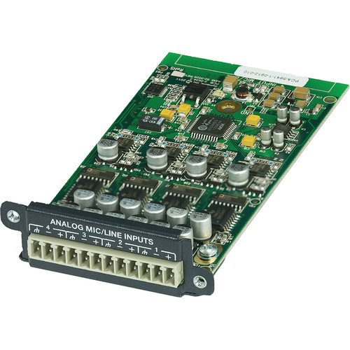 Symetrix 4-Channel Analog Input Card for Edge and Radius Sound DSP