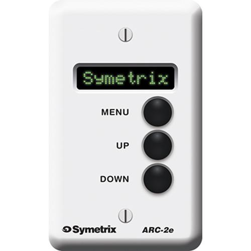 Symetrix ARC-2E Modular Wall-Panel Remote Control for DSP Units (24 Menus)