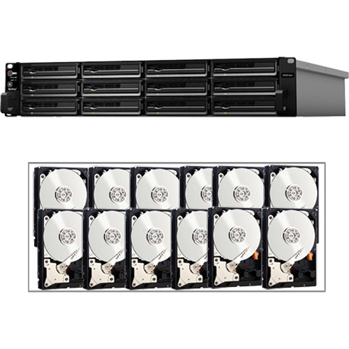 Synology 48TB (12 x 4TB) Synology Rackstation RS3614XS+ 12-Bay NAS Server Kit with Drives