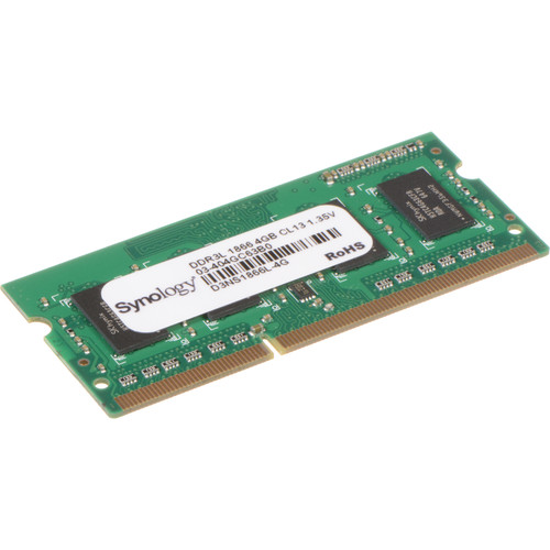 Synology 4GB DDR3L 1866 MHz SO-DIMM Memory Module