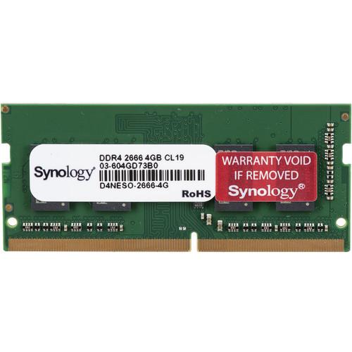 Synology 4GB DDR4 2666 MHz Non-ECC SO-DIMM Memory Module