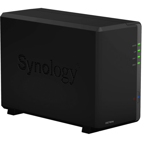 Synology DiskStation 12TB DS216play 2-Bay NAS Server Kit (2 x 6TB)