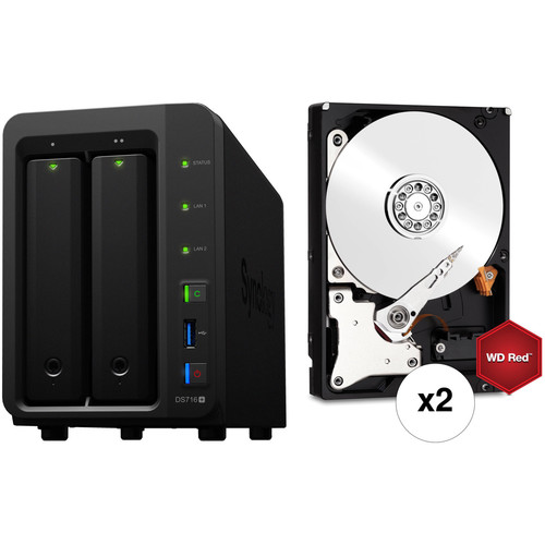 Synology DiskStation 12TB DS716+ 2-Bay NAS Server Kit (2 x 6TB)