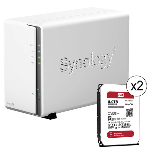 Synology DiskStation 16TB DS216se 2-Bay NAS Server Kit (2 x 8TB)