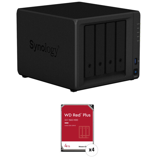 Synology DiskStation 16TB DS418 NAS Enclosure Kit with WD NAS Drives (4 x 4TB)