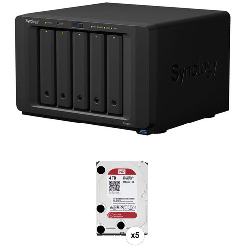 Synology DiskStation 20TB DS1517+ 5-Bay NAS Enclosure Kit with WD NAS Drives (5 x 4TB)