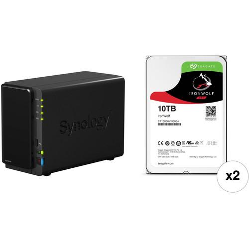 Synology DiskStation 20TB DS216+II 2-Bay NAS Server Kit (2 x 10TB)