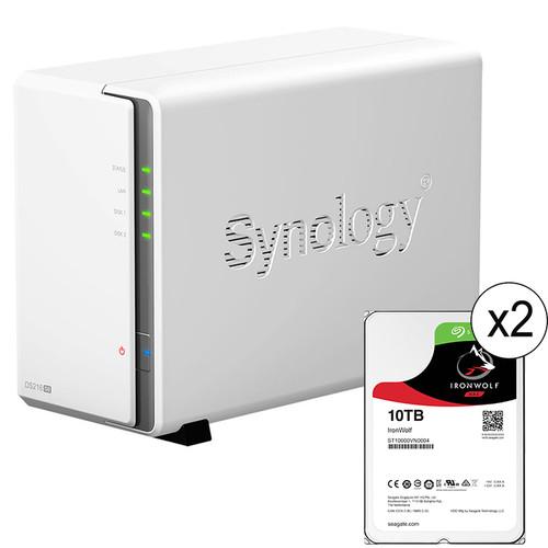 Synology DiskStation 20TB DS216se 2-Bay NAS Server Kit (2 x 10TB)