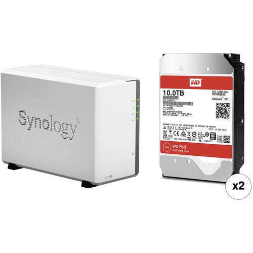 Synology DiskStation 20TB DS216se 2-Bay NAS Enclosure Kit with WD NAS Drives (2 x 10TB)