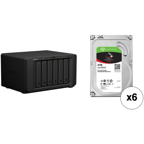 Synology DiskStation 24TB DS3018xs 6-Bay NAS Enclosure Kit with Seagate NAS Drives (6 x 4TB)