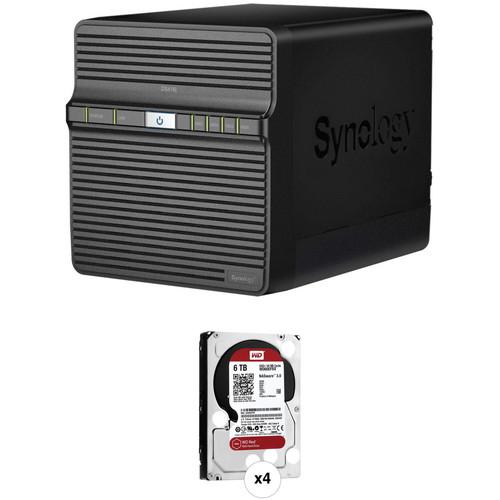 Synology DiskStation 24TB DS416j 4-Bay NAS Server Kit (4 x 6TB)