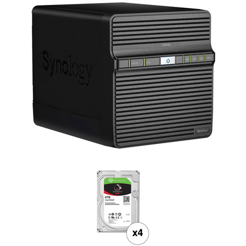 Synology DiskStation 24TB DS418j NAS Enclosure Kit with Seagate NAS Drives (4 x 6TB)