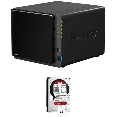 Synology DiskStation 24TB DS916+ 4-Bay NAS Server Kit (4 x 6TB)