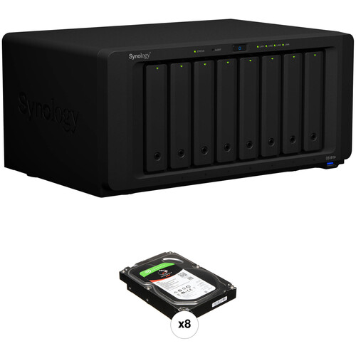 Synology DiskStation 32TB DS1819+ 8-Bay NAS Enclosure Kit with Seagate NAS Drives (8 x 4TB)