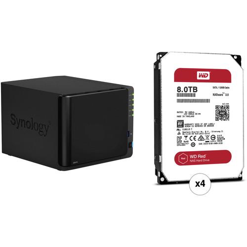 Synology DiskStation 32TB DS416 4-Bay NAS Server Kit (4 x 8TB)