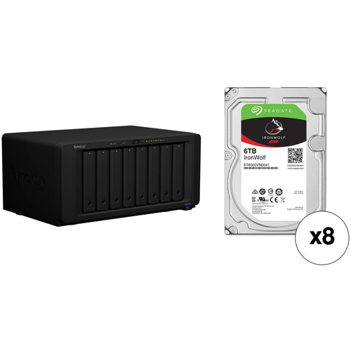 Synology DiskStation 48TB DS1819+ 8-Bay NAS Enclosure Kit with Seagate NAS Drives (8 x 6TB)