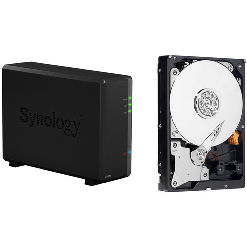 Synology DiskStation 4TB DS118 1-Bay NAS Enclosure Kit with WD NAS Drives (1 x 4TB)