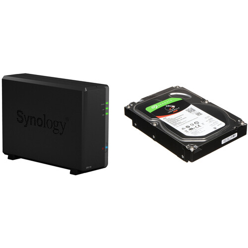 Synology DiskStation 4TB DS118 1-Bay NAS Enclosure Kit with Seagate NAS Drives (1 x 4TB)