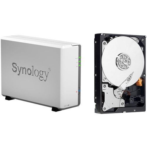 Synology DiskStation 4TB DS119j 1-Bay NAS Enclosure Kit with WD NAS Drive (1 x 4TB)